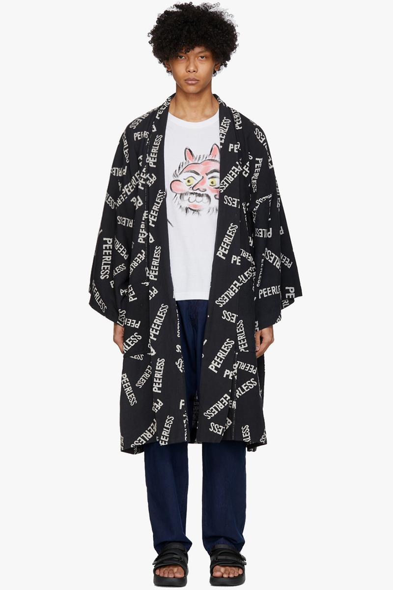 "visvim Black Kieje Haveli Coat ""PEELESS"" Collection Release Information Cozy Loungwear Kimono Style Overcoat Blanket Jacket Hiroki Nakamura"