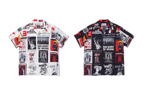 WACKO MARIA and Rage Against The Machine Reunite for Bold Hawaiian Shirts