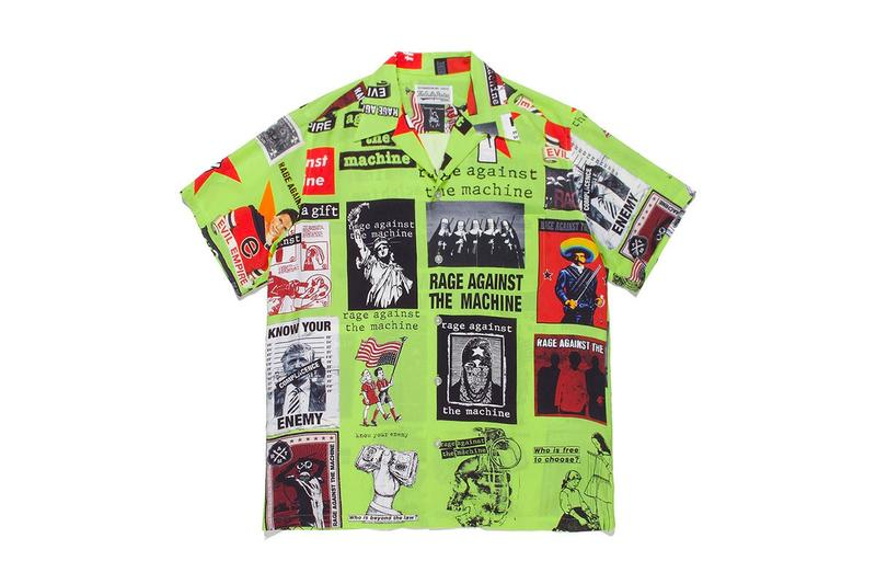 WACKO MARIA Rage Against The Machine Hawaiian Shirts button up spring summer 2020 collection menswear streetwear barbara kruger collage graphics prints collage artist albums rock and roll