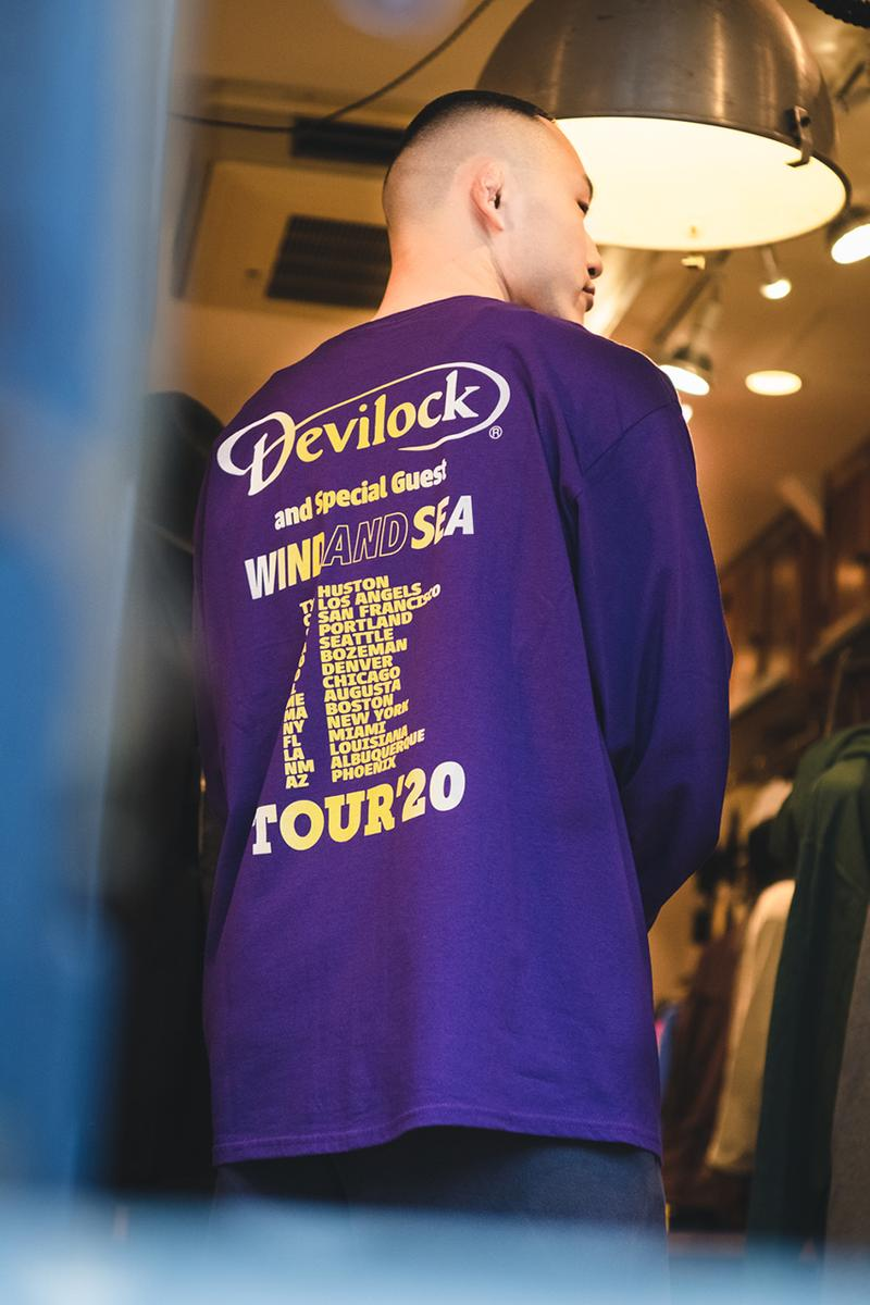 WIND AND SEA x DEVILOCK SS20 Collaboration spring summer 2020 Lookbook japan release date