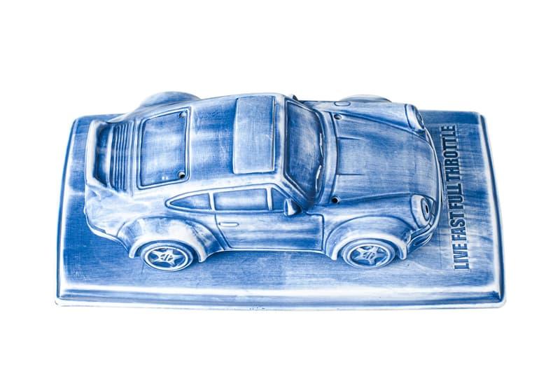 YEENJOY STUDIO & DPSL Porsche 930 Incense Chamber Blue Ceramic Chinese Tradition