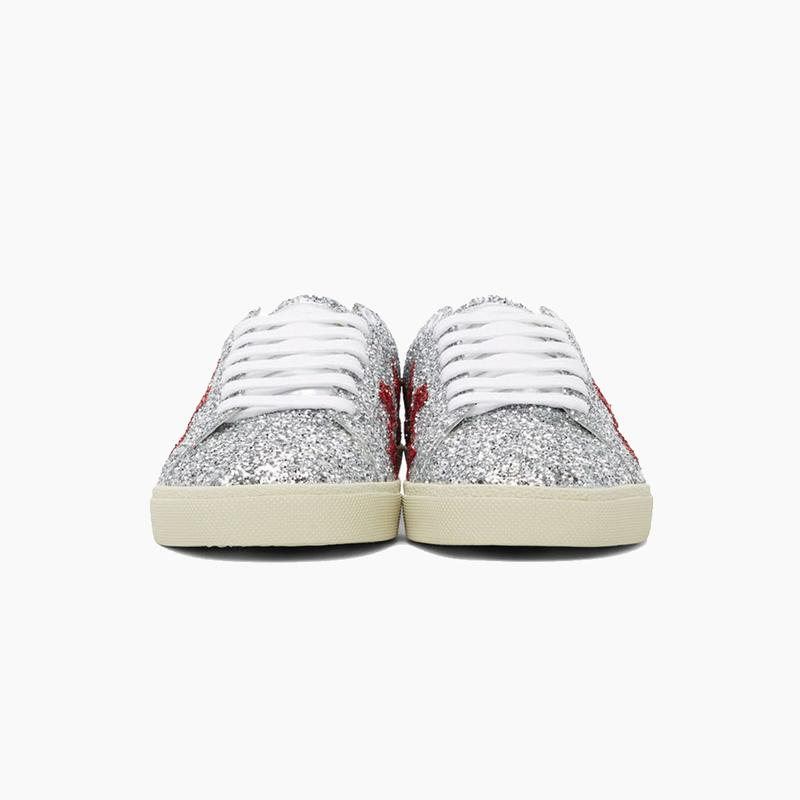 Saint Laurent Silver Glitter Court Classic Sneakers Release Where to buy Price 2020