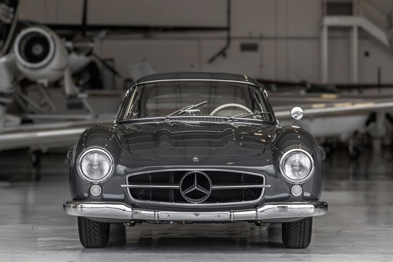 "1956 Mercedes-Benz 300SL Gullwing Bring A Trailer Auction Listing Classic Sports Car Vintage Restoration $1.35 Million USD Sale ""Graphite Gray"" Coupe Merc'"