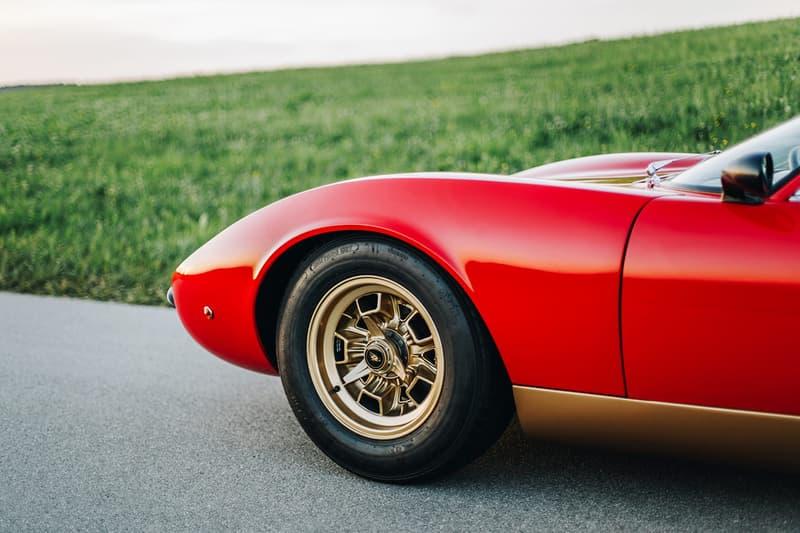 1968 Lamborghini Miura P400 For Sale Luxury Vintage Italian Supercar Automotive Closer Look Red Gold Original Sixties Design Gianpaolo Dallara 350 BHP