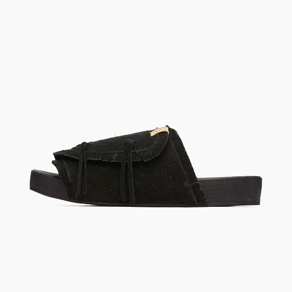 visvim Christo Shaman Folk Sandals in Black