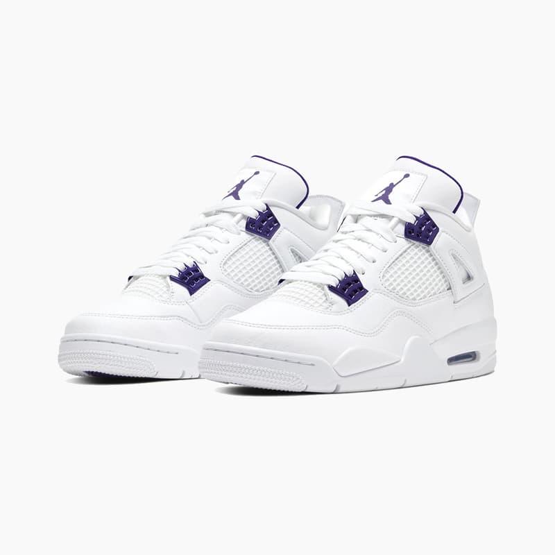 "Air Jordan 4 ""Metallic Purple"" Sneaker Release Where to buy Price 2020"