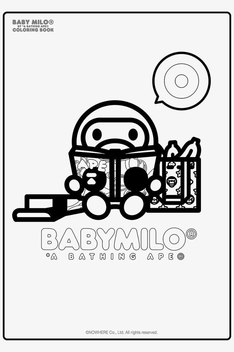 Download A Bathing Ape S Baby Milo Coloring Book Hypebeast