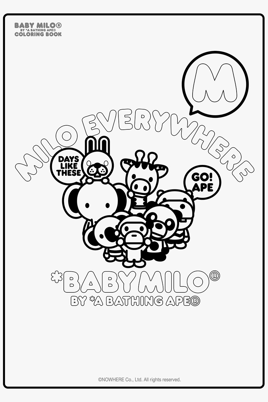 - Download A BATHING APE's Baby Milo Coloring Book HYPEBEAST