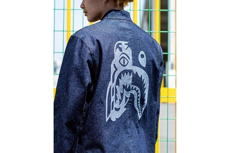 A Bathing Ape bape Shark Tiger Indigo dye Dyed Capsule collection japan blue tee t shirt hat hoodie jacket coat summer 2020