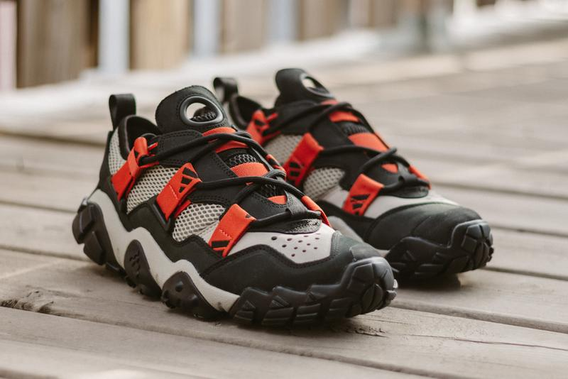 "adidas Consortium FYW XTA Black Red Beige Fv2536 Footwear Three Stripes Hiking Shoes Sneaker Release Information Drop Date First Look ""Freddy"" Logo"