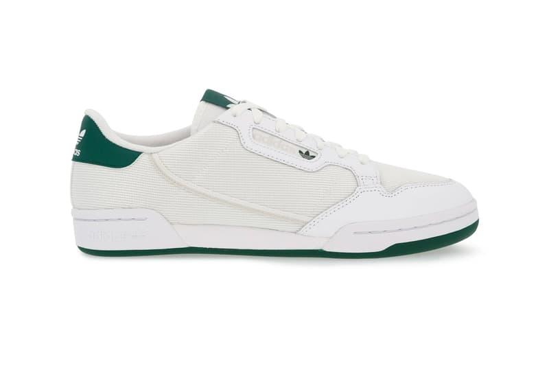 adidas Continental 80 Collegiate Green menswear streetwear spring summer 2020 collection sneakers footwear shoes trainers runners kicks retro vintage
