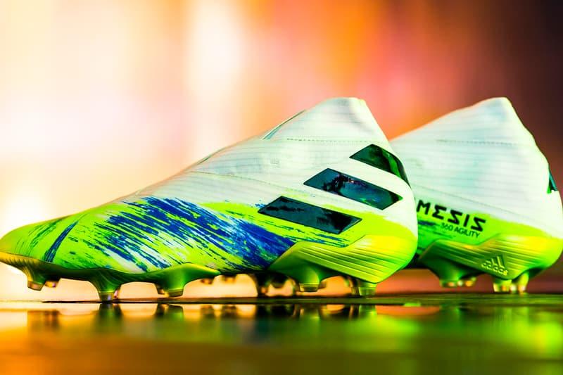 adidas football uniforia predator z copa nemeziz 19+ 20+ cloud white core black signal green team royal blue pop shock pink demonskin release information buy cop purchase