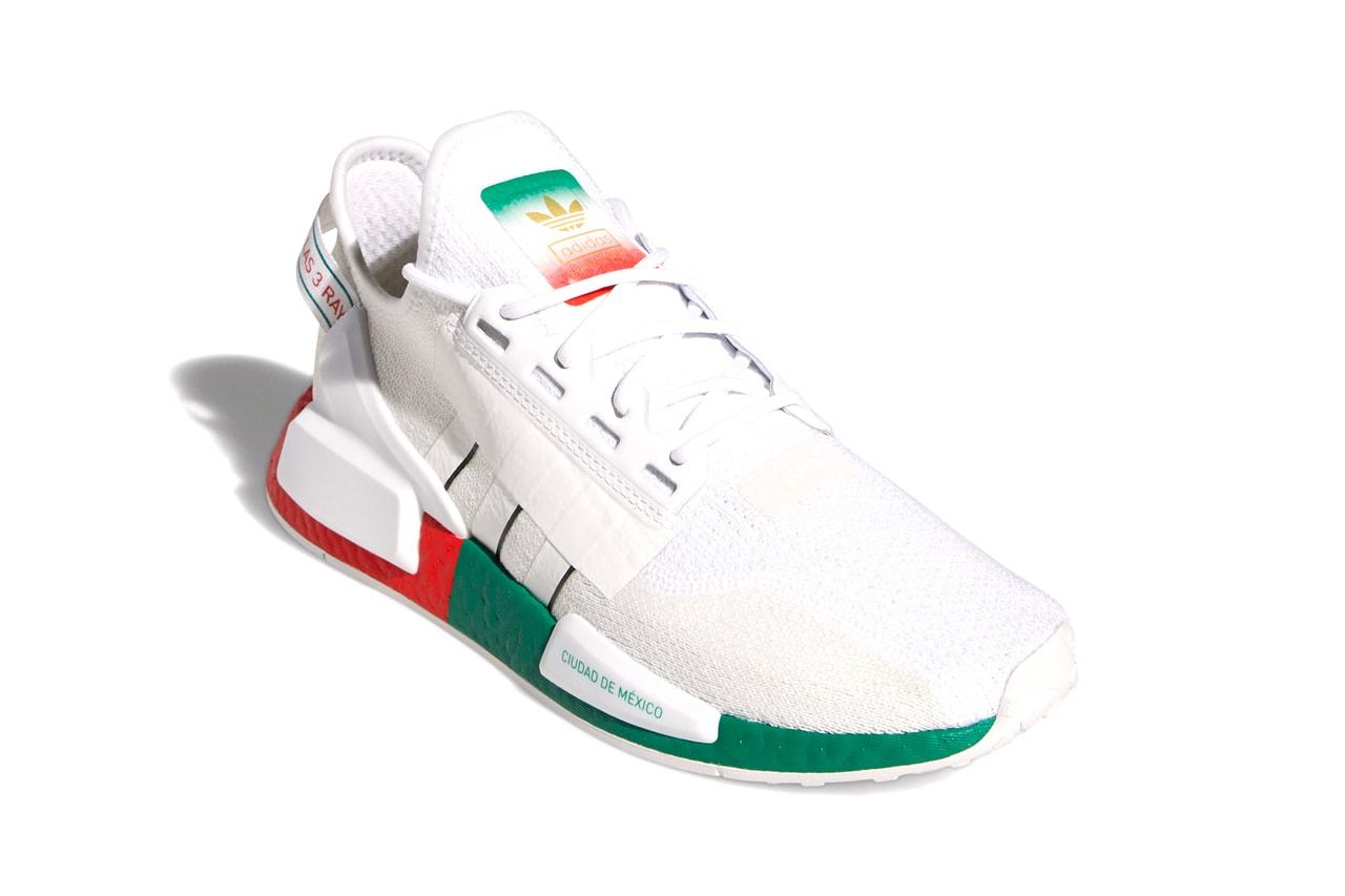 nmd r1 v2 white on feet