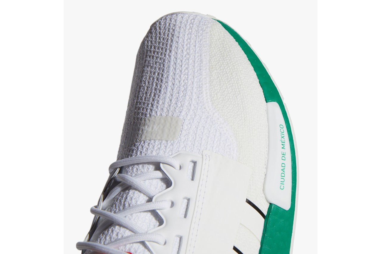 adidas originals foot locker nmd r1 v2 mexico city white red green fy1160 release date info photos price