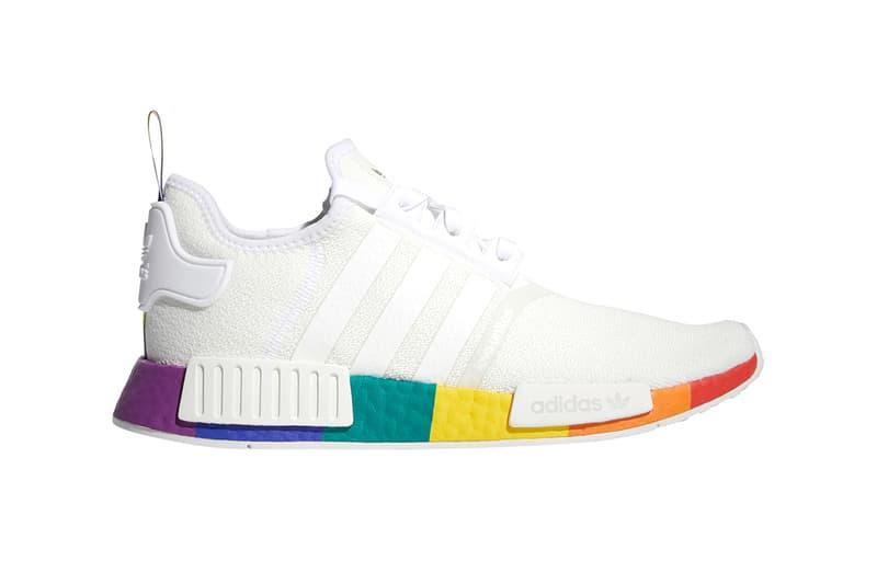 adidas Originals Pride Month NMD_R1 and Adilette Revealed Release Information LGBTQIA+ LGBTQ Primeknit Rainbow BOOST Sole Unit Slides Sandals Drop