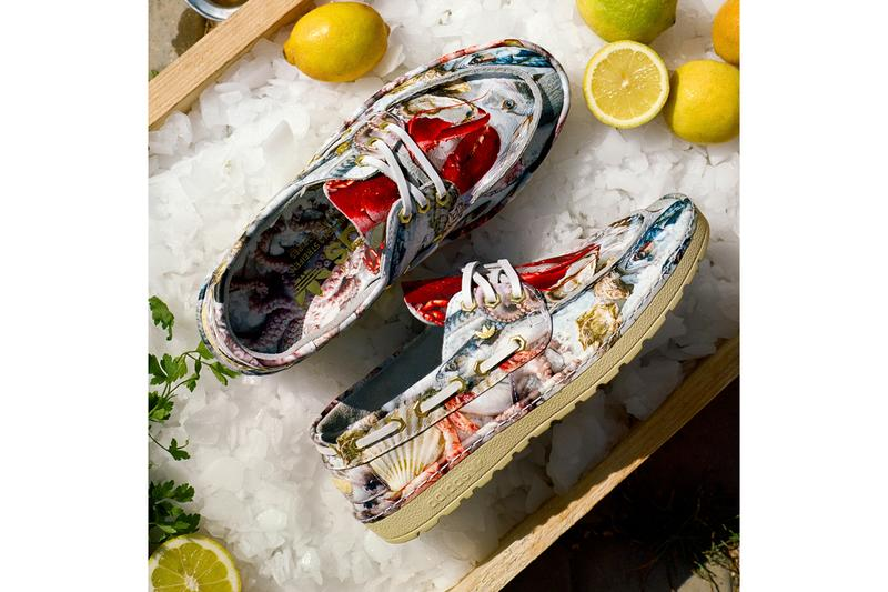adidas originals saint florent deck shoe seafood platter lobster octopus fish oyster clam cloud white gold metallic fw6672 official release date info photos price store list