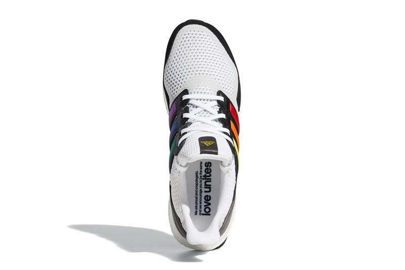 adidas ultraboost s and l pride 2020 cloud white core black gold metallic rainbow stripes yellow orange red blue purple green FY5347 release date info photos price