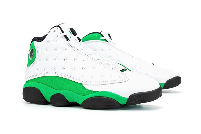 "Air Jordan 13 ""Green"" First Look Release Information Closer Look Ray Allen PE White Leather Suede Zoom Midsole Basketball Michael Jordan Brand Phylon outsole pods Jumpman"