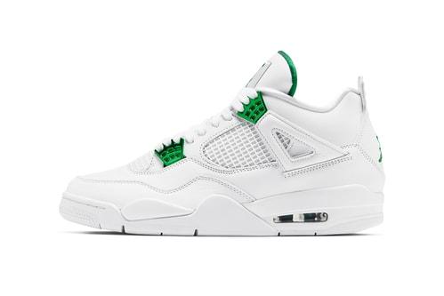 "Official Look at the Air Jordan 4 ""Metallic Green"""