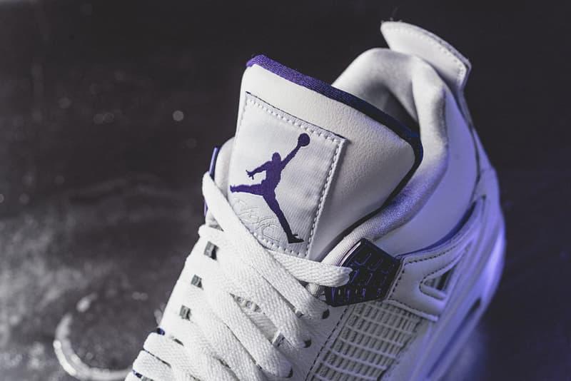 air jordan brand 4 metallic purple