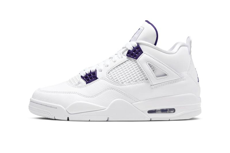 Air Jordan 4 Metallic Purple Official Look Release Info CT8527-115 White Court Purple Silver