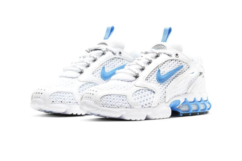 """Nike Air Zoom Spiridon Cage 2 """"University Blue"""" Release Stussy Caged Air Sneakers 1990s '90s Retro trainers shoes kicks footwear"""