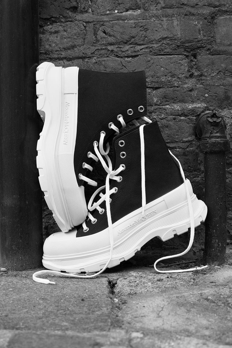 Alexander McQueen Tread Slick Boots & Lace Up Sneakers Release Information Closer Look Lookbooks Campaign Photography #McQueenCreators Nature project