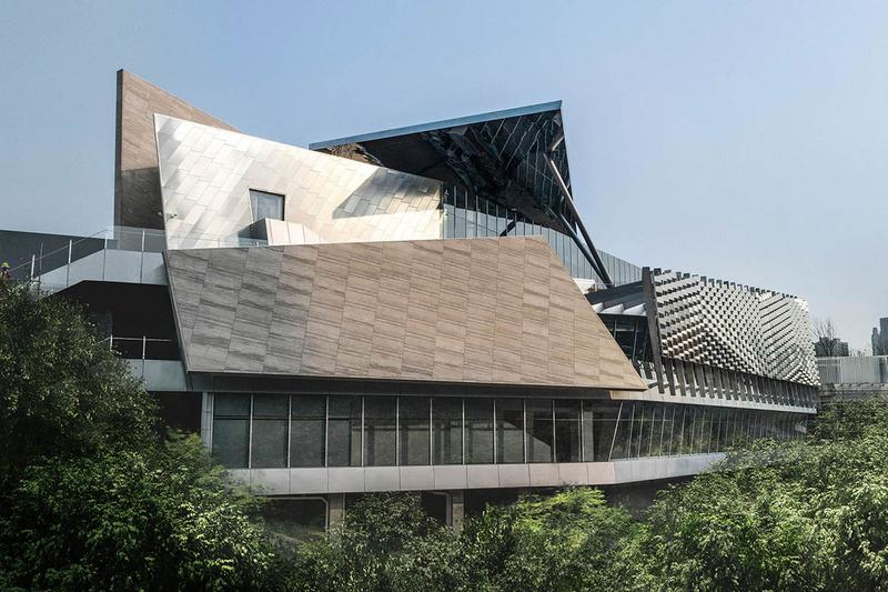 AOE Architects One Sino Park Building Chongqing China Mountains Deconstructivist Building Cliffside