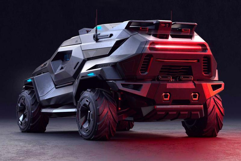 ARMORTRUCK bulgarian concept artist Milen Ivanov survival vehicle steel titanium Kevlar carbon fiber bulletproof wheels