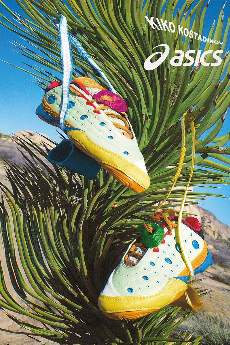 kiko kostadinov asics gessitittm sneaker womenswear trainers drops collaboration 2020 laura deanna fanning Phantom Cream yellow blue black red orange pink