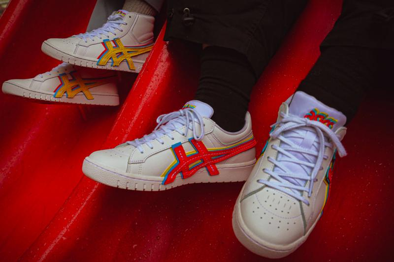 atmos ASICS GEL PTG 3 STRAND low top high cut shoes footwear menswear streetwear trainers runners sneakers spring summer 2020 collection kicks yellow blue red