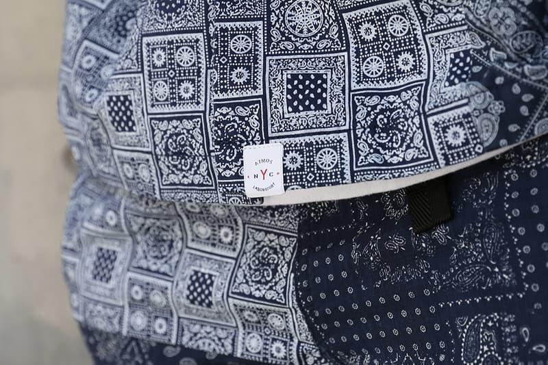 atmos LAB x Manatash Patchwork Bandana Collection Release Information Shirt Open Collar Cargo Utility Shorts T-Shirt Paisley Print Pattern Tokyo Japan