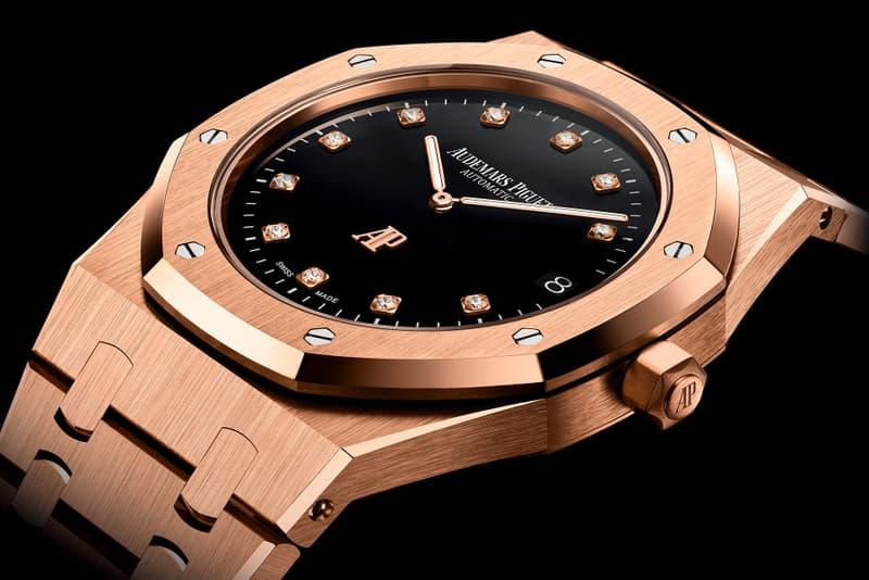 Audemars Piguet Pink Gold 950 Platinum Royal Oak 15206pt 15207or AP gold Diamond Gerald Genta Swiss Made Grand Tapisserie Calibre 2121