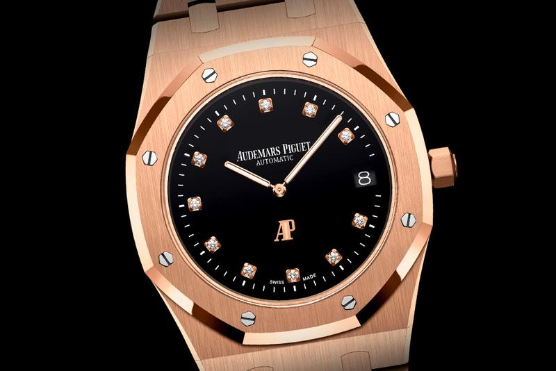 Audemars Piguet Pink Gold 950 Platinum Royal Oak 15206pt 15207or AP gold Diamond Gerald Genta Swiss Made Grand Tapisserie Calibre 2121