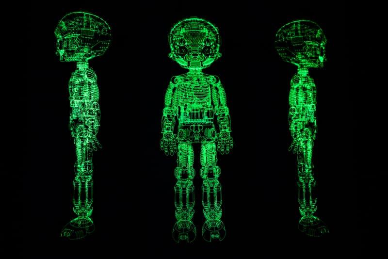 bait x astro boy atom project glow in the dark skateboard deck set of three triptych skate skateboards