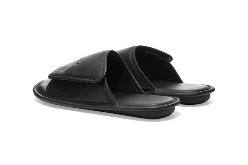 Balenciaga Home Sandal Black Leather Demna Gvasalia Shoes Slides Homeware Comfy Cozy Footwear END. Italian Velcro Debossed Branding