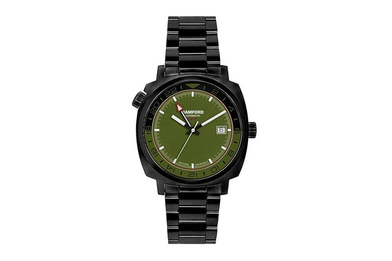 Bamford Watch Department Army Green GMT Release Watches Dual Time wristwatches George Bamford army green Sellita