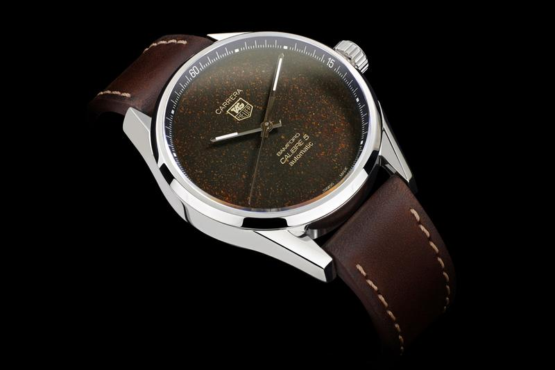 bamford watch department bwd badgerworks black badger tag heuer carrera calibre 5 tropical ground coffee dial limited edition