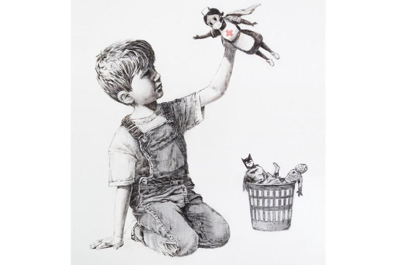banksy game changer artwork nhs coronavirus covid auction charity