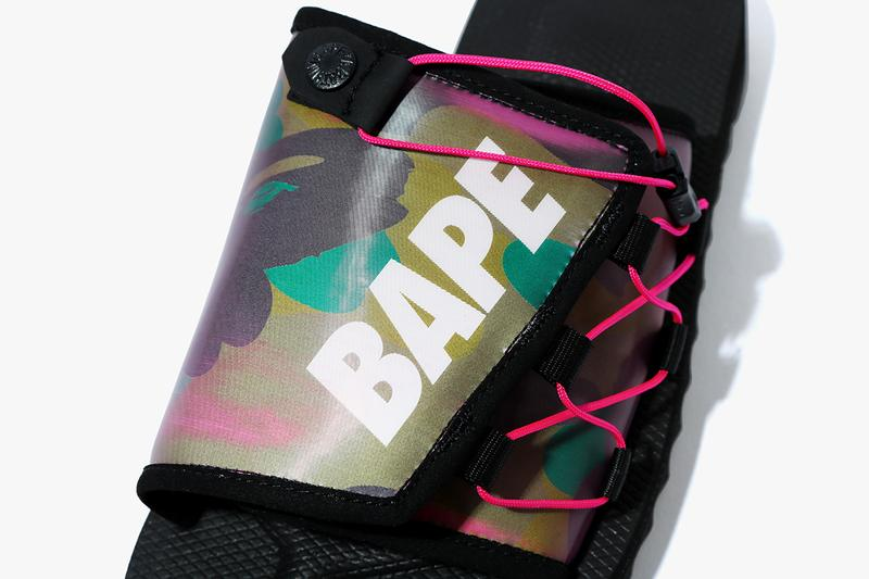 BAPE x Suicoke SS20 DAO Sandal Collaboration moto spring summer 2020 kids sizes adult may 23 release date price holographic lenticular