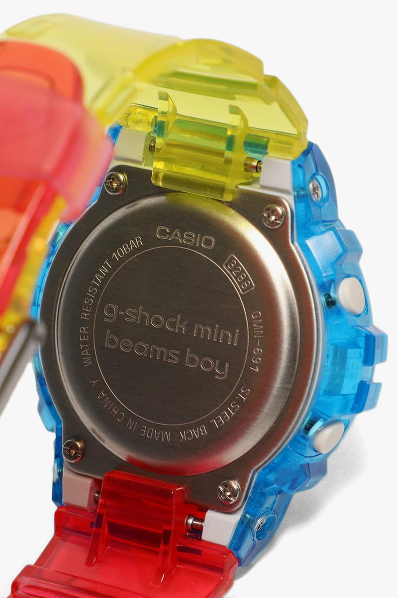 BEAMS BPR, Boy x G-SHOCK DW-5600, GMN-691 watches spring summer 2020 collaboration timepieces mini exclusive 5600BEAMS20-8JR GMN-691 june july release date japan