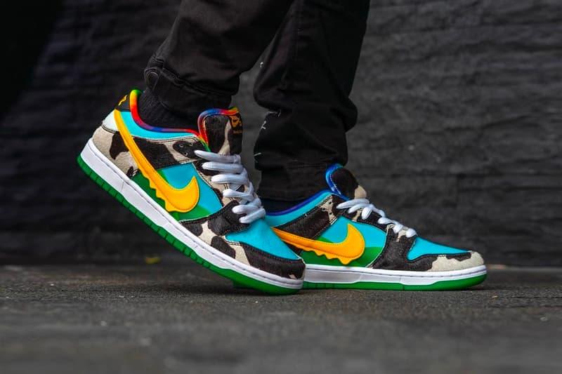 Ben & Jerrys Nike SB Dunk Chunky Dunky Low On Foot Look Release Date Info CU3244-100