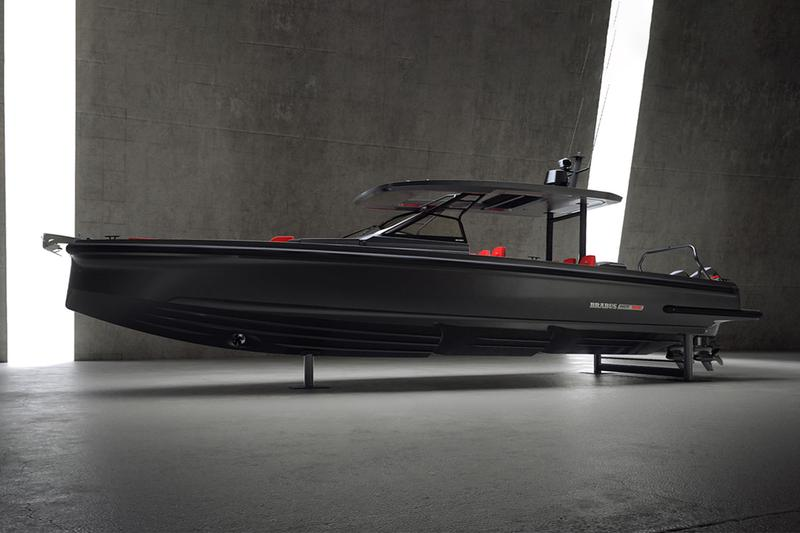 brabus marine shadow 900 horsepower black ops limited edition speedboat boats sailing