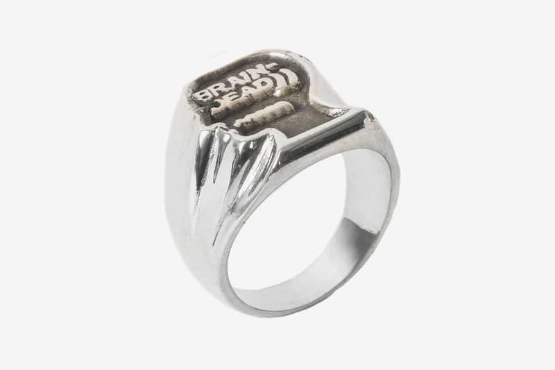 Brain Dead x Jason Le Compte Enamel Ring Venice Vitreous Enamel Silver Jewelry rings Kyle Ng Accessories
