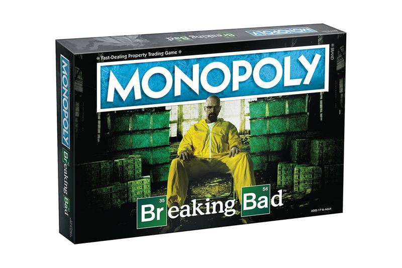 Breaking Bad Monopoly Board Game Hasbro Heisenberg Hat Tio Bell Money Barrel Gas Mask Pink Teddy Bear RV tent houses SuperLabs Walter White