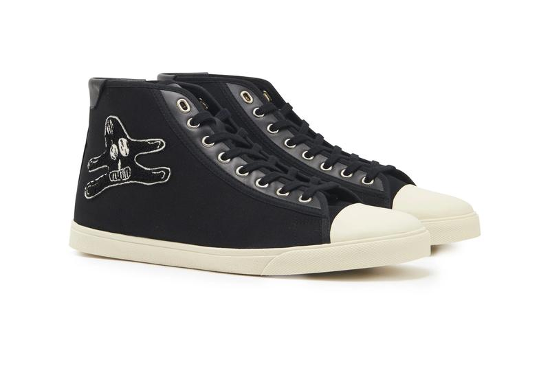 Celine Blank Mid Lace-Up Sneaker With Toe-Cap in Canvas Calfskin shoes footwear kicks luxury sneakers premium André Butzer
