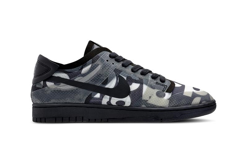 comme des garcons nike dunk low black monogram print release information buy cop purchase details paris fashion week september 2019 men's women's sizing