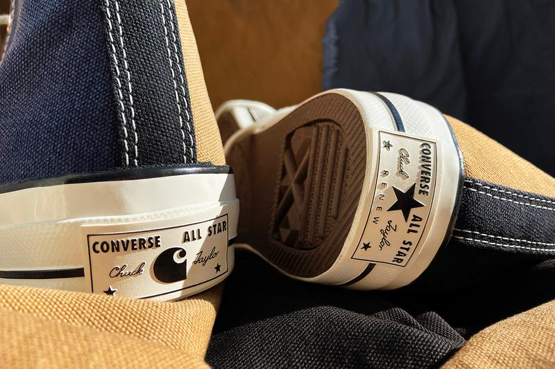 carhartt wip converse chuck 70 taylor renew sustainable recycled upcycled workwear buy cop purchase unique release details