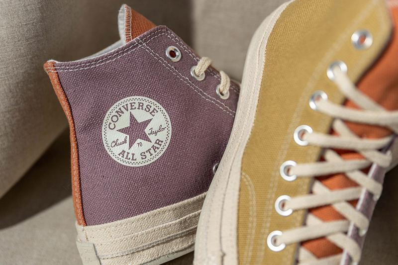 converse chuck 70 renew sustainable chuck 70 hi ox tri color mellow rose plein air egret 167772C prarie sand noble grey 167767C release date info photos price