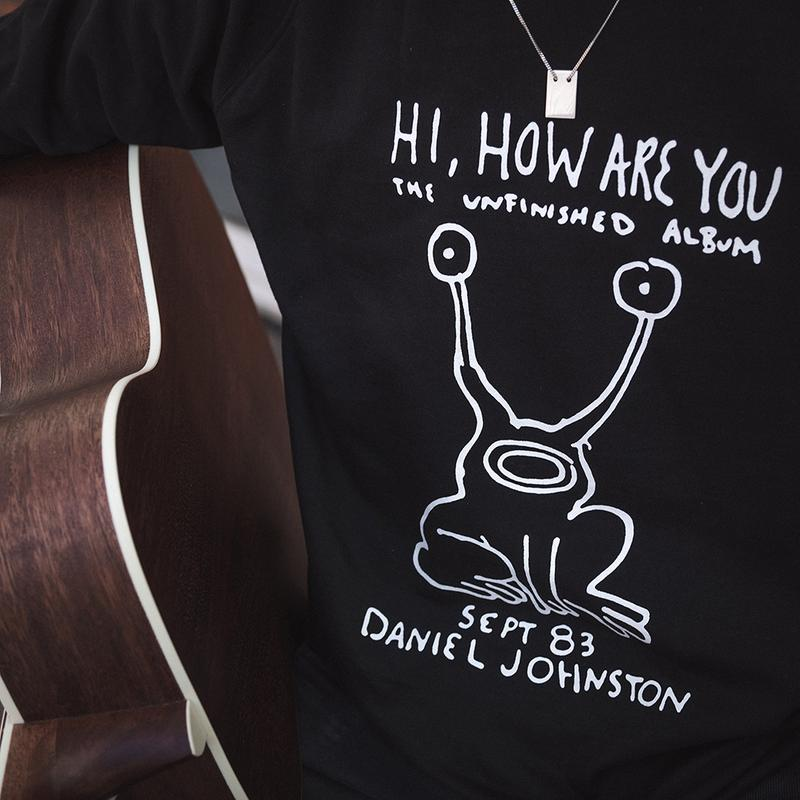 daniel johnston dedicated garbstore collection t-shirt sweatshirt black white hi how are you supreme release information buy cop purchase